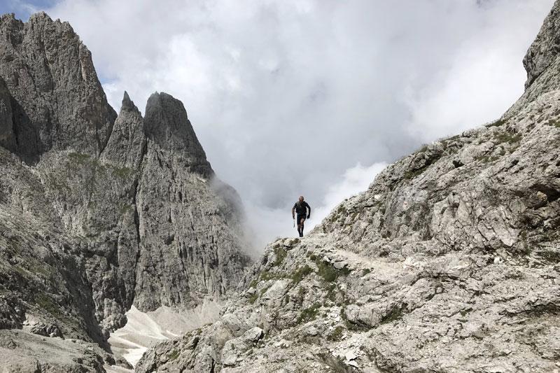 Verso il Passo di Ball - D360 Dolomiti Experience Trail
